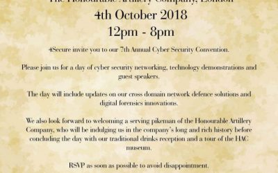 4Secure Cyber Security Convention – 4th October 2018 – RSVP to secure your place