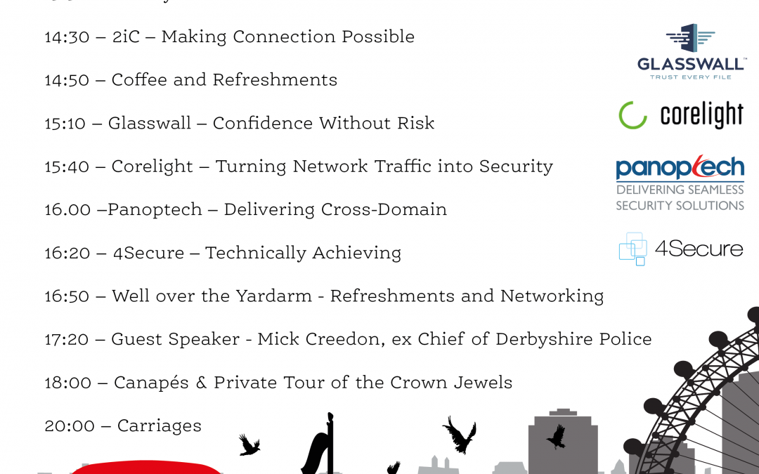 Agenda announced for the 4Secure Cross Domain Symposium of the year at the Tower of London!